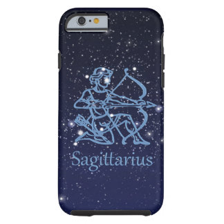 Sagittarius Constellation & Zodiac Sign with Stars Tough iPhone 6 Case