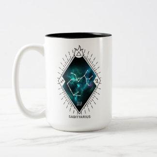 Sagittarius Constellation & Zodiac Symbol Two-Tone Coffee Mug