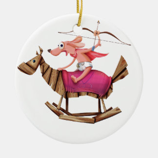 Sagittarius Dog Ceramic Ornament