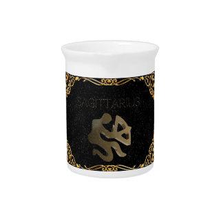 Sagittarius golden sign drink pitchers