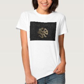 Sagittarius golden sign t shirts