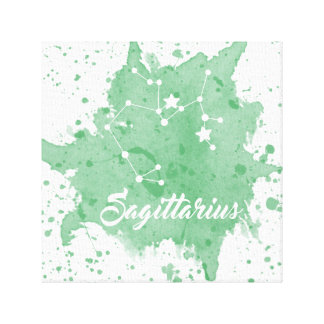 Sagittarius Green Wall Art