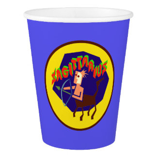 Sagittarius Horoscope Sign Zodiac Paper Cups