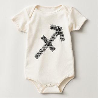 Sagittarius Horoscope Symbol in a Word Cloud Baby Bodysuit