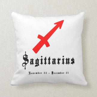 Sagittarius, Horoscope, zodiac, astrology Throw Cushions