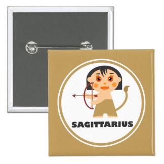 Sagittarius is my Zodiac Sign 15 Cm Square Badge