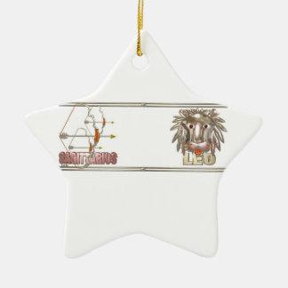 Sagittarius Leo friendship design Ornament