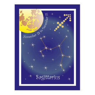 Sagittarius November 23 tons of December 21 Postcard