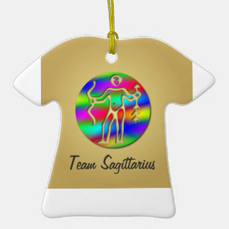Sagittarius Rainbow Archer Zodiac Star Sign Sports Ornament