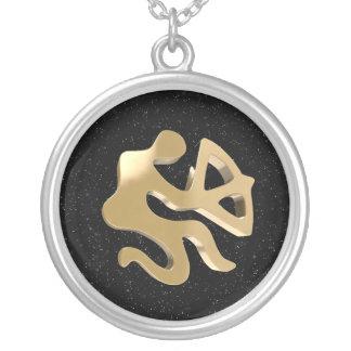 Sagittarius, Sagittario Round Pendant Necklace