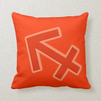 """Sagittarius"" sign orange red zodiac throw pillow Throw Cushions"