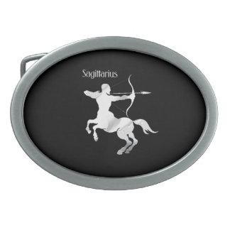 Sagittarius Silver Archer Zodiac Belt Buckle