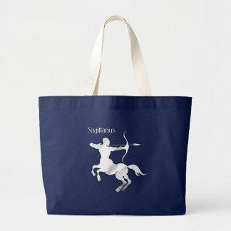 Sagittarius Silver Archer Zodiac Jumbo Tote Bag