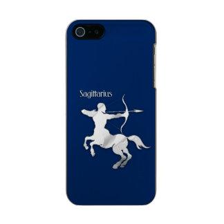 Sagittarius Silver Archer Zodiac Navy Blue Incipio Feather® Shine iPhone 5 Case