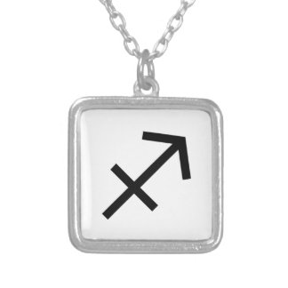 Sagittarius Silver Plated Necklace