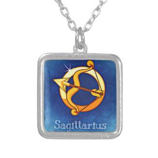 Sagittarius Square Pendant Necklace