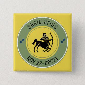 SAGITTARIUS SYMBOL 15 CM SQUARE BADGE