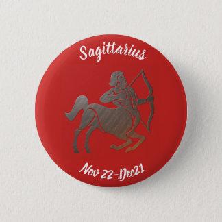 SAGITTARIUS SYMBOL 6 CM ROUND BADGE