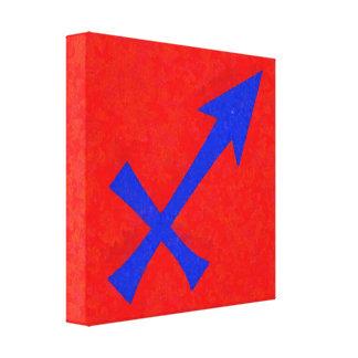 Sagittarius symbol canvas print