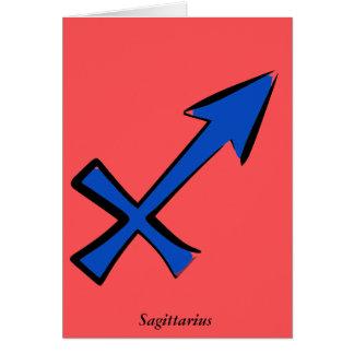 Sagittarius symbol card
