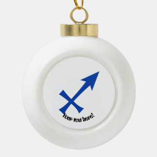 Sagittarius symbol ceramic ball christmas ornament