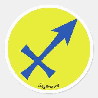 Sagittarius symbol classic round sticker