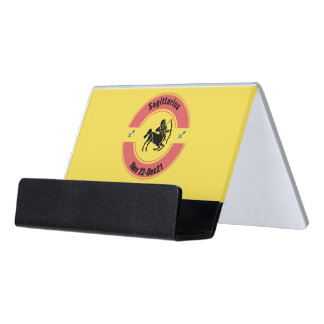 SAGITTARIUS SYMBOL DESK BUSINESS CARD HOLDER