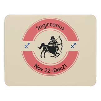 SAGITTARIUS SYMBOL DOOR SIGN