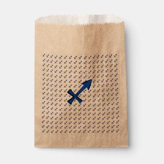 Sagittarius symbol favour bag