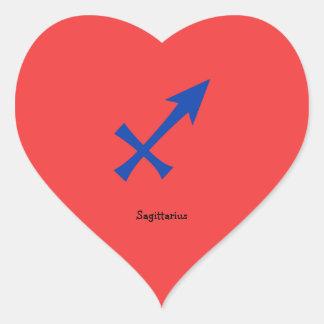 Sagittarius symbol heart sticker