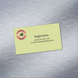 SAGITTARIUS SYMBOL 	Magnetic BUSINESS CARD