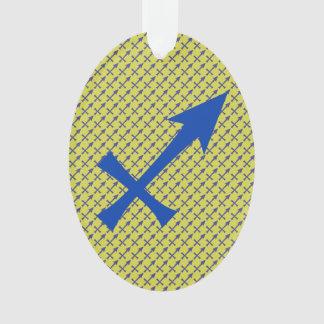 Sagittarius symbol ornament