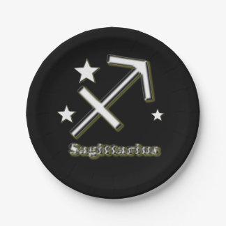 Sagittarius symbol paper plate