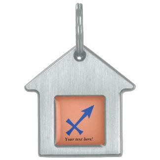 Sagittarius symbol pet name tag