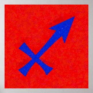 Sagittarius symbol poster