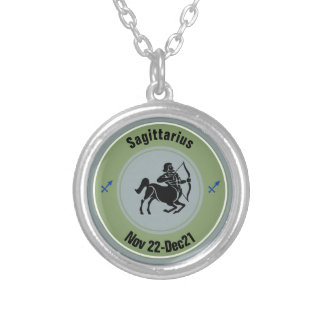 SAGITTARIUS SYMBOL SILVER PLATED NECKLACE
