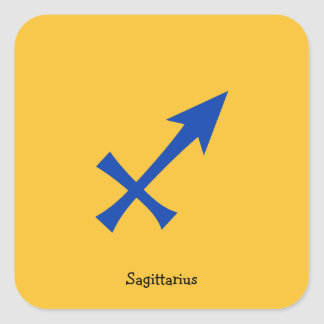 Sagittarius symbol square sticker