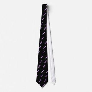 Sagittarius Symbol (style 1_purple) tie