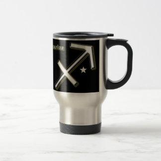 Sagittarius symbol travel mug