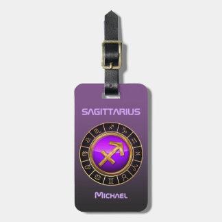 Sagittarius - The Archer Zodiac Symbol Luggage Tag