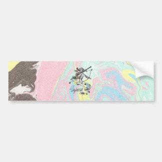 Sagittarius Tie Dye Bumper Sticker Sag Astrology