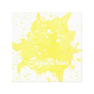Sagittarius Yellow Wall Art