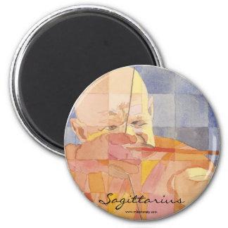Sagittarius Zodiac 6 Cm Round Magnet