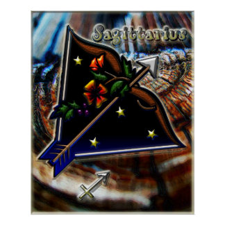 Sagittarius Zodiac Art Poster