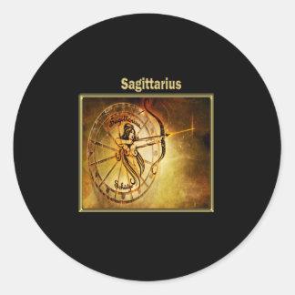 Sagittarius  Zodiac Astrology design Classic Round Sticker