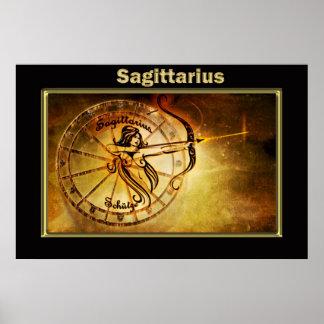 Sagittarius Zodiac Astrology design Poster