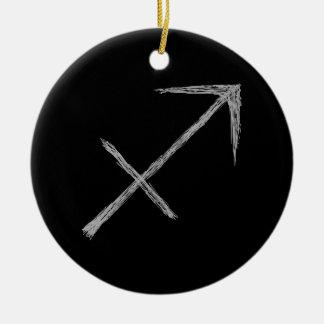 Sagittarius. Zodiac Astrology Sign. Black. Ornament