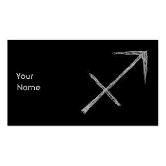 Sagittarius. Zodiac Astrology Sign. Black. Pack Of Standard Business Cards