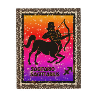 Sagittarius Zodiac Astrology Wood Wall Art