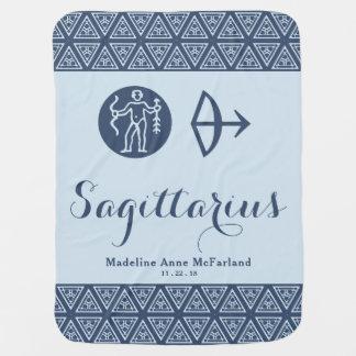 Sagittarius Zodiac Baby Blanket